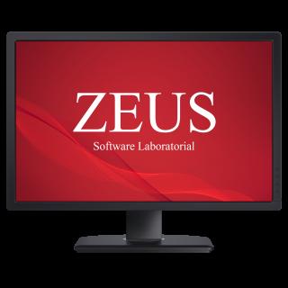 tela com a logomarca zeus